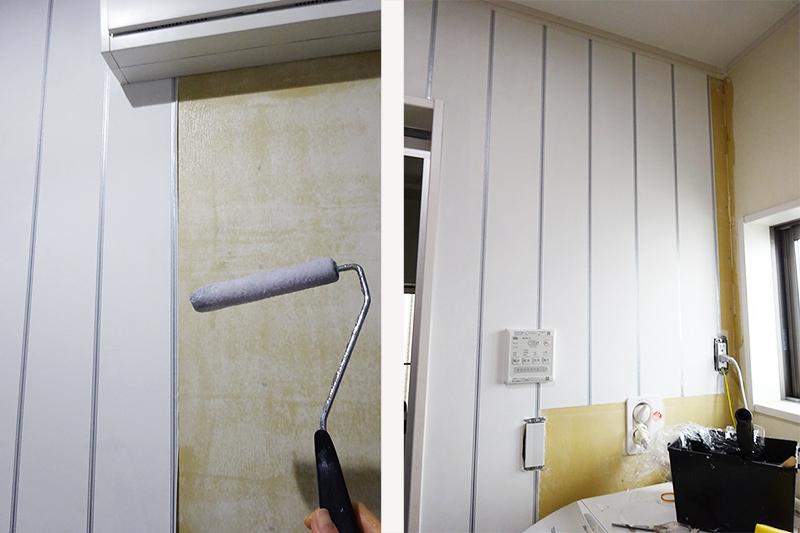 壁紙 貼り替え DIY