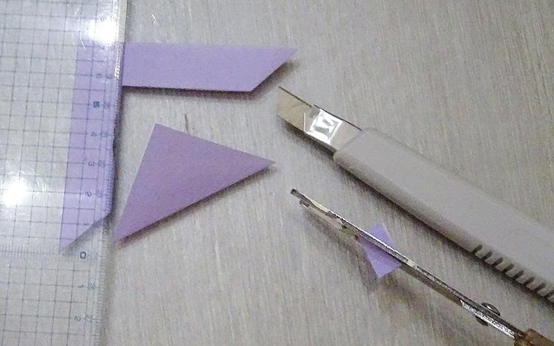 折り紙で下書きを描くための型を作る