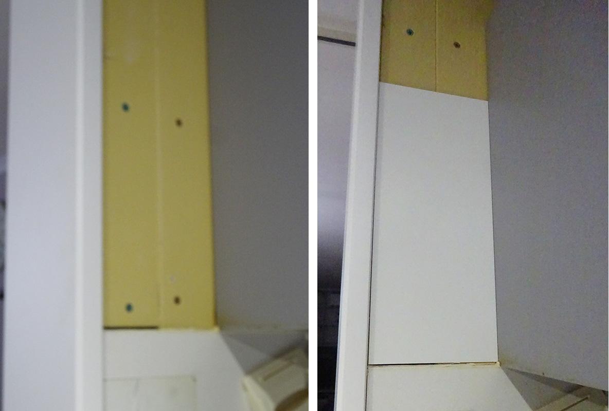 キッチンパネルを補修
