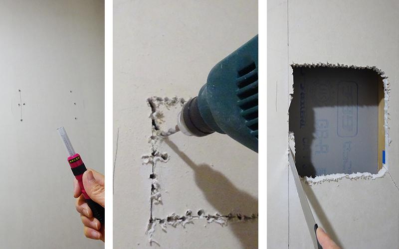 壁に穴を開ける手順