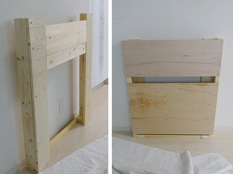 マントルピース DIY 土台組立