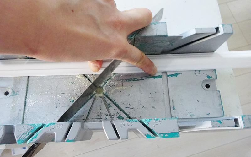 腰壁DIY チェアレールのカット