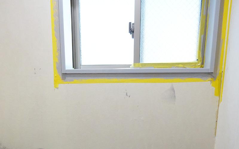 腰壁DIY 窓枠もペイント