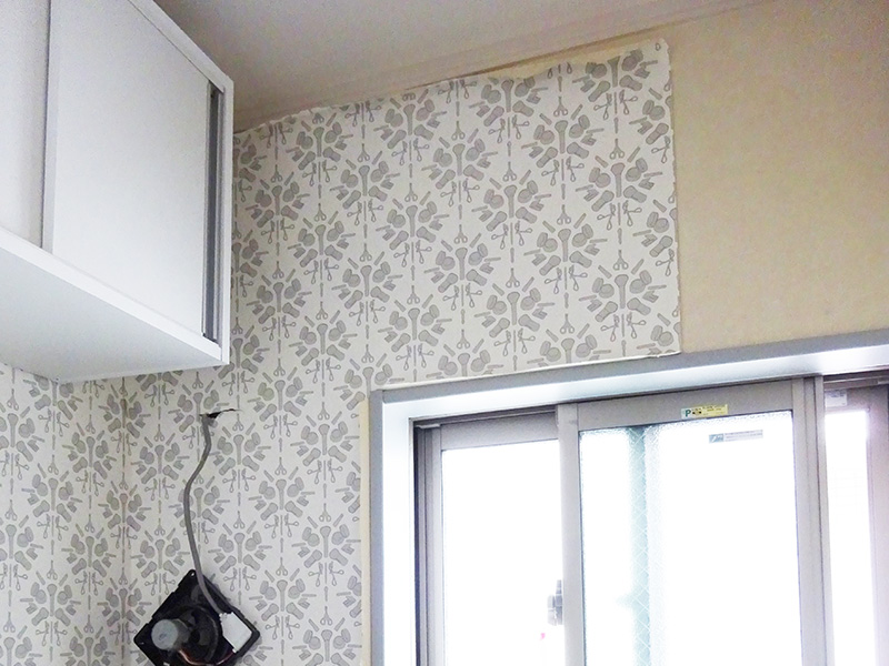 トイレリフォーム計画 壁紙DIY