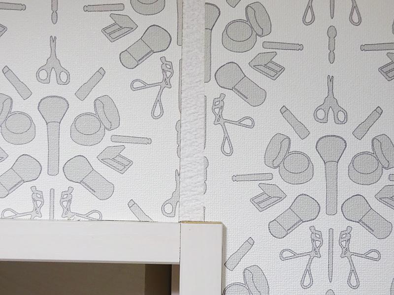トイレ壁紙貼りDIY