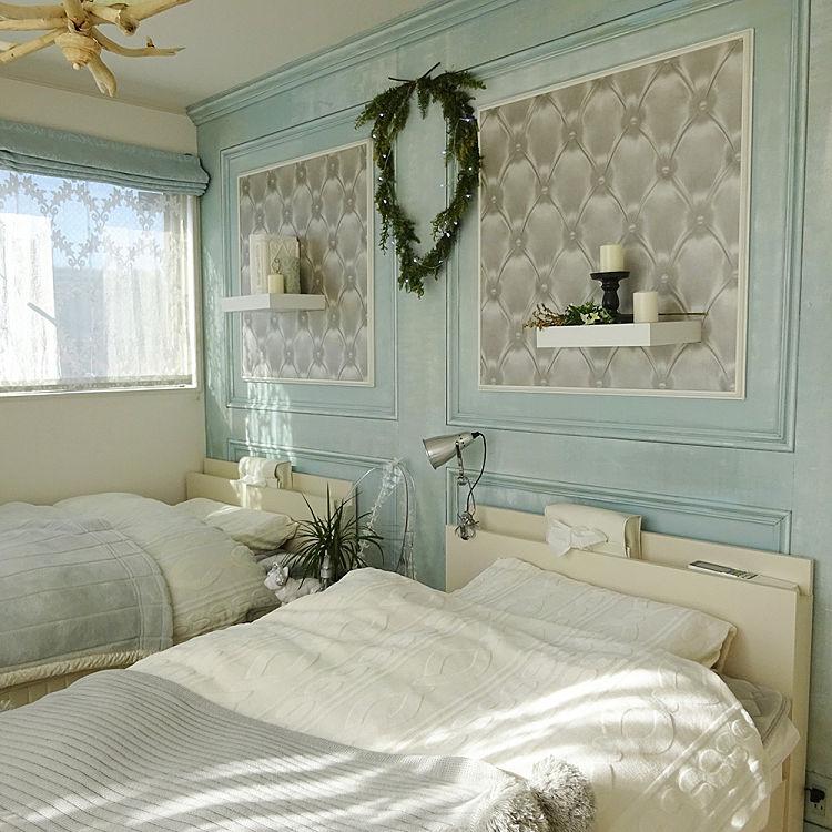 SHIROYAGI's room|カテゴリー【 ベッドルーム モールディング壁デコDIY 】