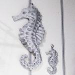 タツノオトシゴ 親子 壁飾り